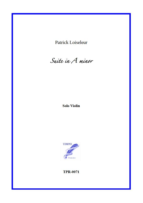 Suite in A minor for Solo Violin (Loiseleur)