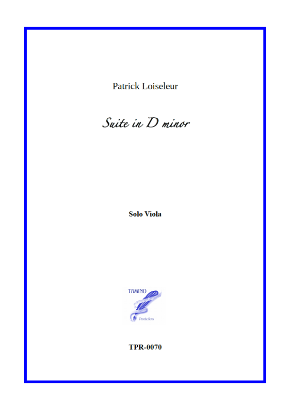 Suite in D minor for Solo Viola (Loiseleur)