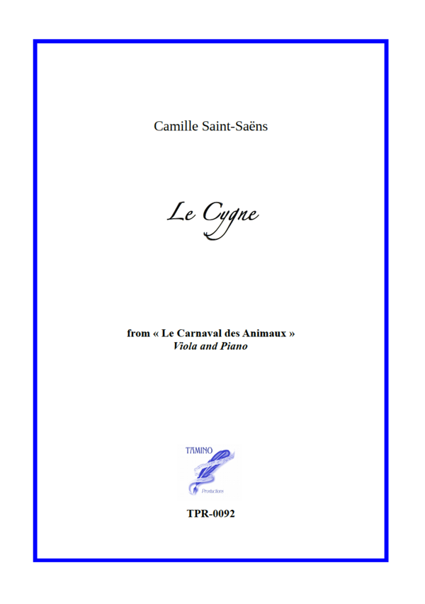 The Swan (Le Cygne) for Viola and Piano (Camille Saint-Saëns)