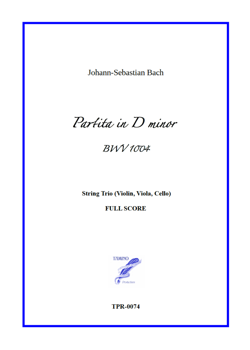 Partita (Chaconne) in D minor BWV 1004 for String Trio (Bach / Loiseleur)