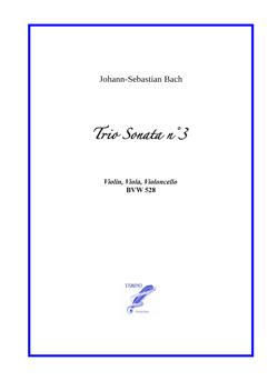 Sonata n°3 BWV 528 for String Trio (Bach)