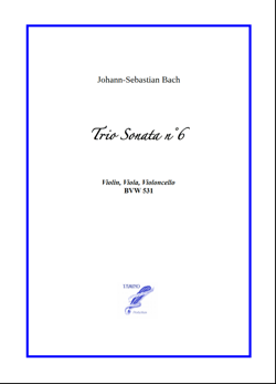 Sonata n°6 BWV 531 for String Trio (Bach)