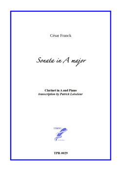 Sonata for Clarinet in A and Piano (Franck)