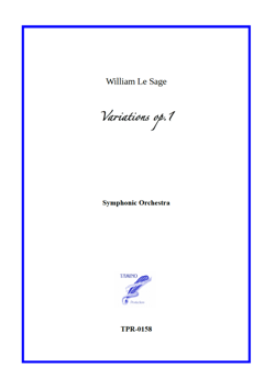 Variations for Symphonic Orchestra (Le Sage) - Full Score