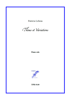 Theme and Variations for Solo Piano (Lebrun)