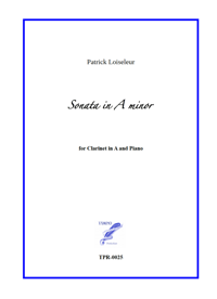 Sonata in A minor for clarinet and piano (Loiseleur)