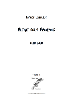 Elegy for Solo Viola (Loiseleur)