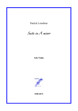 Suite in A minor for Solo Violin (Loiseleur)