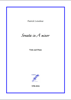 Sonata in A minor for Viola and Piano (Loiseleur)