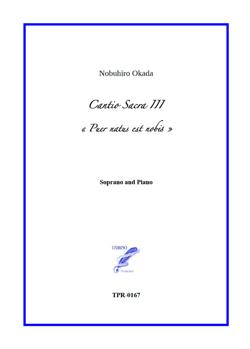 Cantio Sacra III for Soprano and Piano (Okada)